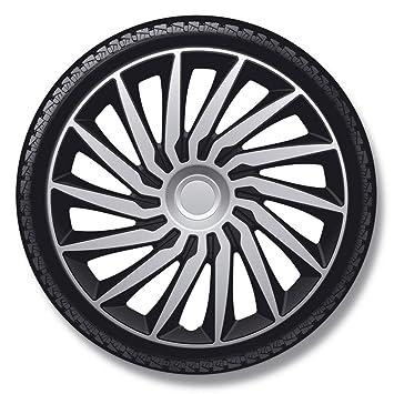 Autostyle Silver/Black Juego Tapacubos Kendo de 16 Pulgadas Plata/Negro