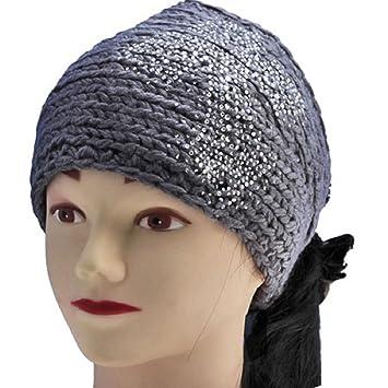 Amazon.com   Cross Crochet Knit Head-wrap Winter Headband Ear Warmer Hair Muffs  Band-GREY   Other Products   Beauty 4f670d2d62c