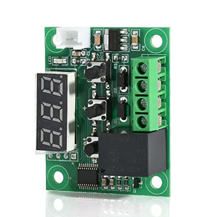 Walmeck W1209 Waterproof Blue LED Digital Temperature Controller Board Micro Thermostat Electronic Temp Control 12V DC