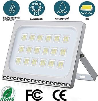Foco LED 100W IP65 Impermeable Floodlight LED Exterior 10000 lumen 6500K Blanco frío Iluminación luz de seguridad LED Exterior para jardín, garaje, patio, camino, fábrica: Amazon.es: Iluminación