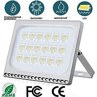 Foco LED 100W IP65 Impermeable Floodlight LED Exterior 10000 lumen 6500K Blanco frío Iluminación luz de seguridad LED Exterior para jardín, garaje, patio, camino, fábrica