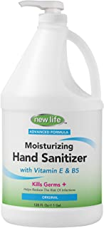 product image for New Life Refreshing Gel Sanitizer with Vitamin E & B5-128 fl oz - Kills Germs Without Soap & Water - Made in USA