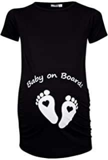 PERSONALISED BABY SCAN MONTH DUE BABY GIRL DESIGNER MATERNITY T SHIRT TSHIRT