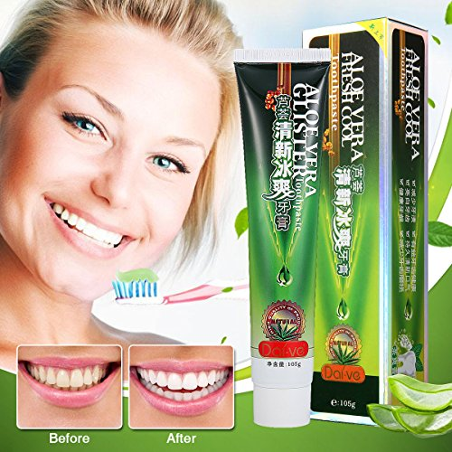 LuckyFine Aloe Vera Fresh Cool Toothpaste Health Fresher Breath ()