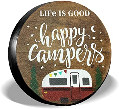 SDJGNSSDF Spare Tire Covers Life is Good Wheel Covers Rv Tire Covers Sun-Proof Weather-Proof for Jeep Trailer RV SUV Truck Camper Travel Trailer Accessories 14 15 16 17 Inch{sizeName}