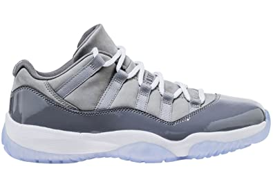 the latest 0b594 a68b4 Amazon.com   Jordan Men s Air 11 Retro Low, Medium Grey White-Gunsmoke    Basketball