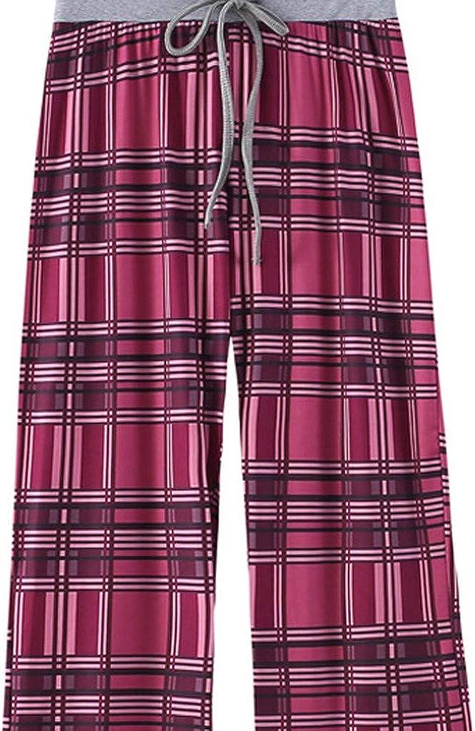 Womens Wide Leg Lounge Pants New Baggy Flared Pants Casual Loose Yoga Pants Drawstring Printing Comfy Palazzo Pants