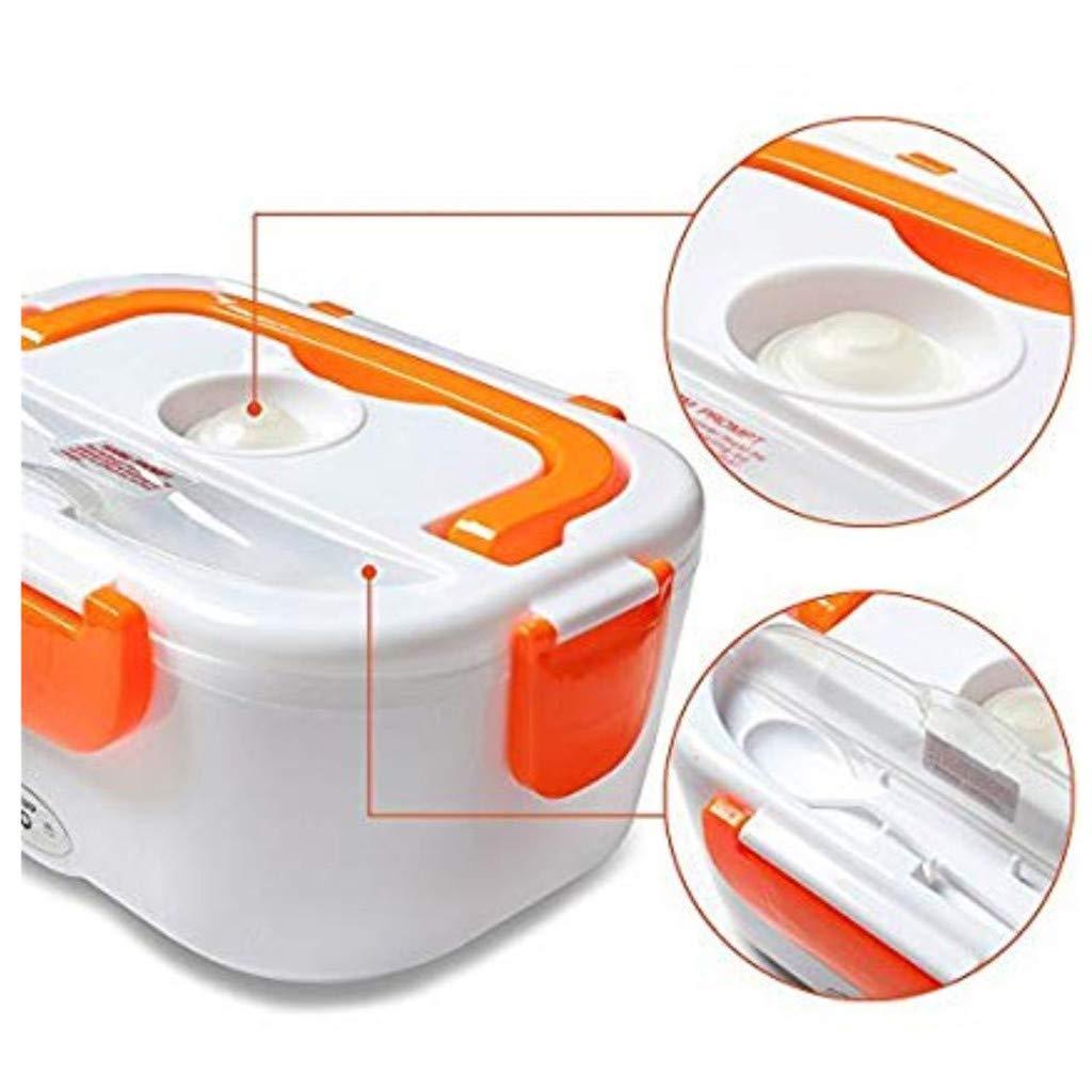 arancia Menlang Lunchy Box Portavivande termico elettrico,Riscaldatore alimentare multifunzionale portatile della scatola di pranzo del riscaldamento della spina calda,termica scaldavivande,1,1-1,2L