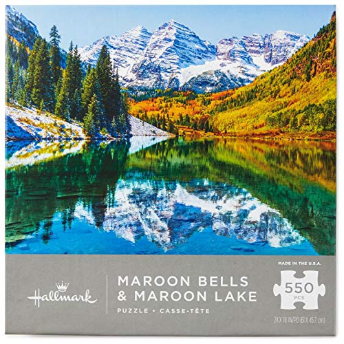 Bells Maroon (Maroon Bells and Maroon Lake Mountain Scene 550-Piece Puzzle Puzzles & Games Animals & Nature)