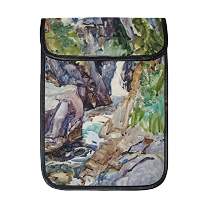 huge discount 1c5d7 22725 Amazon.com: KEAKIA Watercolor Waterfall Laptop Tablet Sleeve iPad ...