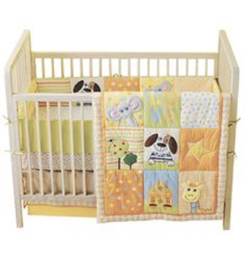 Tiny Tillia Crib Bedding Set Neutral Dog