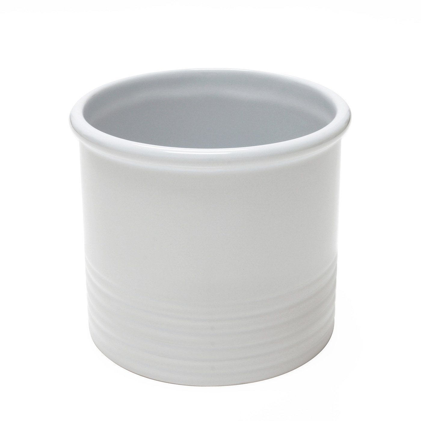 Large Utensil Crock - White