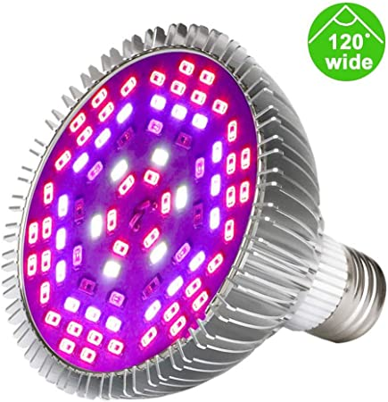 Amazon Com Led Grow Light Bulb 25w 78leds Plant Bulb Grow Lights Full Spectrum Indoor Garden Lamp With 120 Degree Wide Area Coverage Fit In Indoor Plants Vegetables Seedlings Greenhouse Hydroponic Garden