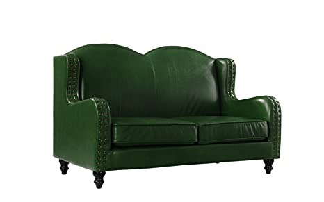 Pleasing Amazon Com Leather Match Loveseat 2 Seater Living Room Pabps2019 Chair Design Images Pabps2019Com