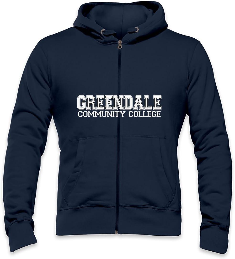 Greendale Community College Mens Zipper Hoodie