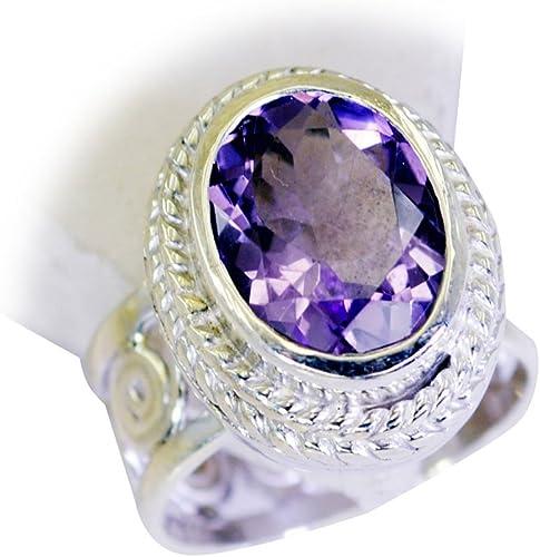 Gemsonclick Natural Amethyst Gemstone Ring 925 Silver Pear Bezel Style Handicraft Size 5,6,7,8,9,10,11