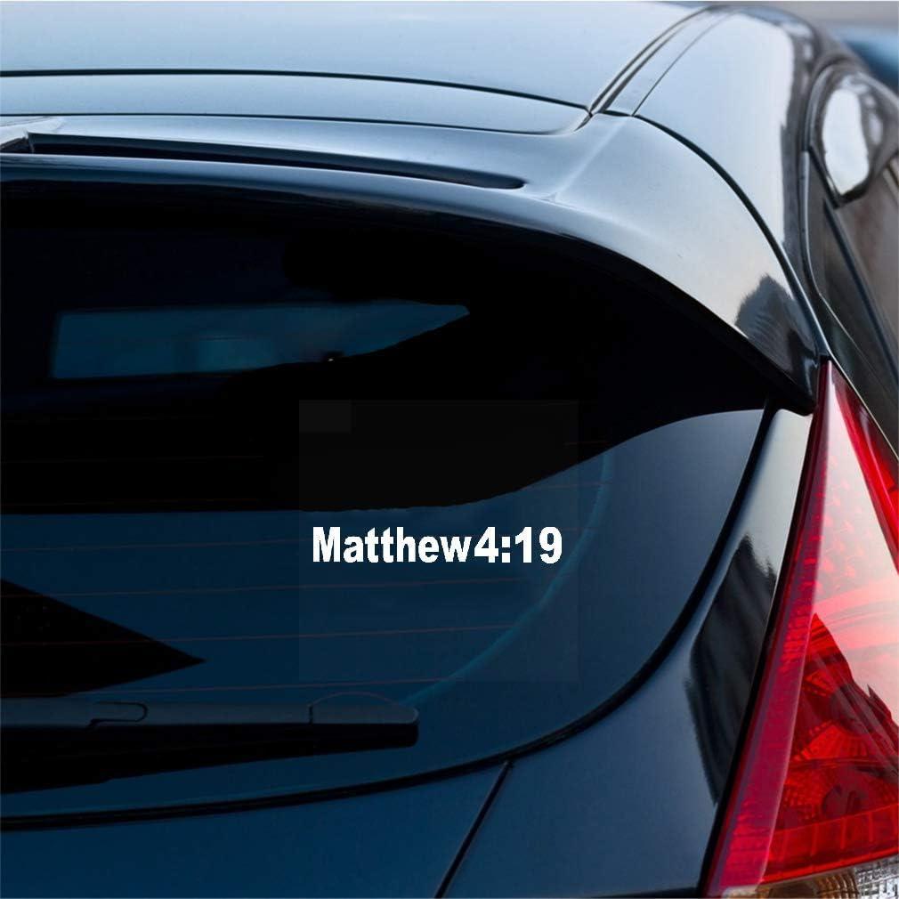 Pegatinas Para Coche 15.1Cmx2.3Cm Mateo 4:19 Calcomanía ...