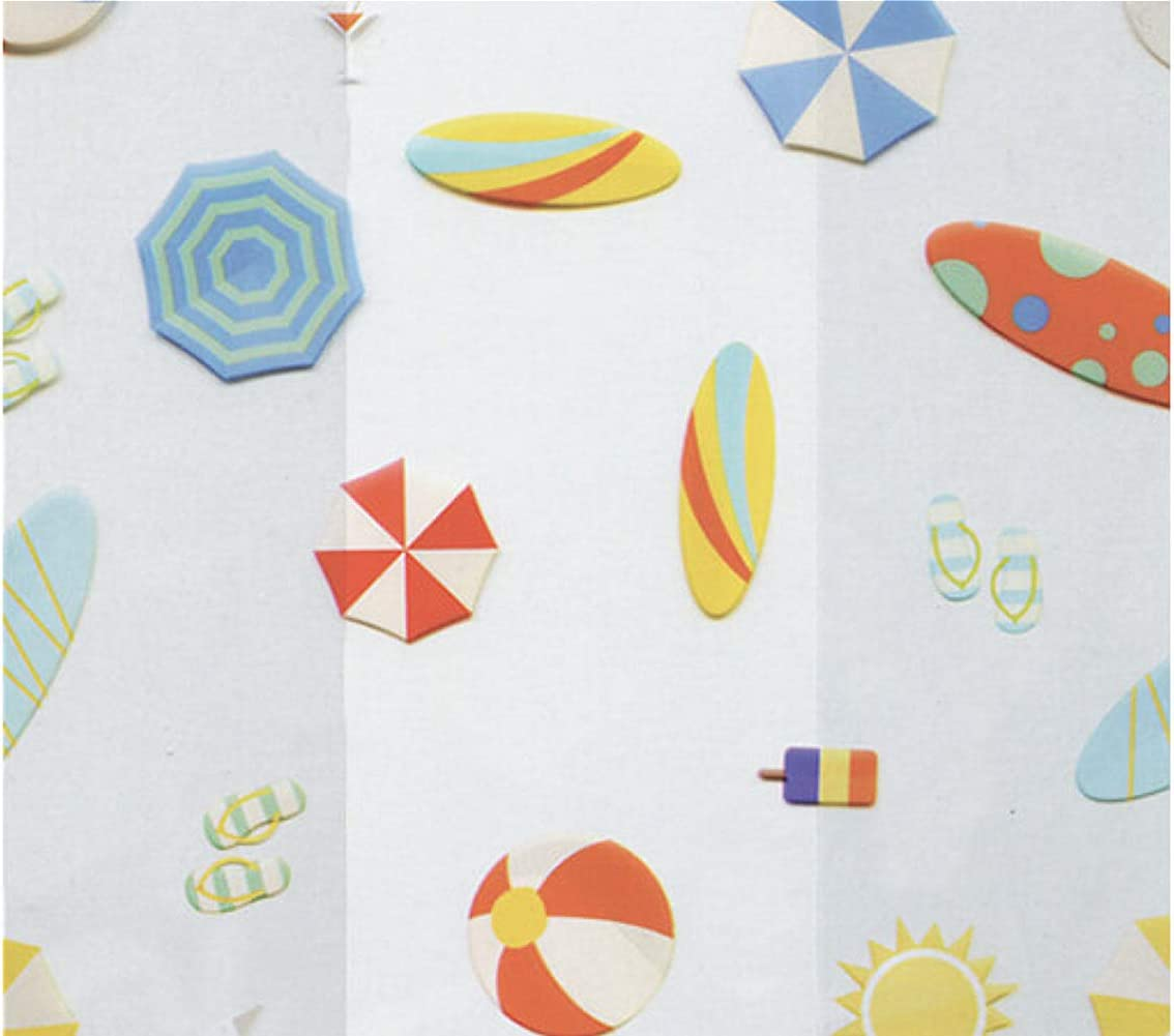 Beach Party Cello Treat Bags - 7.5 x 3.5 x 2in. (20)