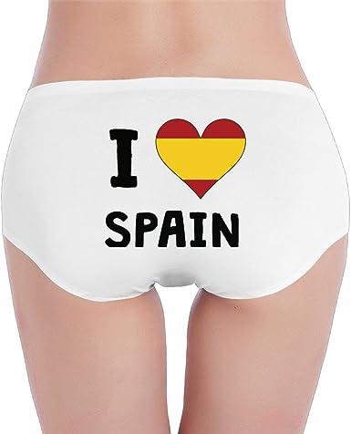CCPA333 De la Mujer I Love España Me corazón Bandera Ropa Interior Bohemios - Negro - L: Amazon.es: Ropa y accesorios