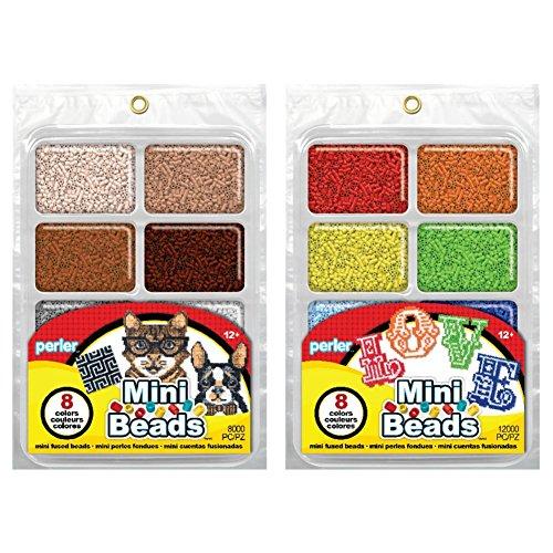 Perler Mini Beads Tray Bundle - Neutral and Rainbow
