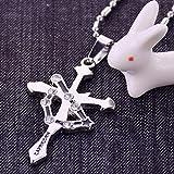 Generic _ steel _bottle_seat_striker_Cancer_Scorpio_ couple man boy women girl cross necklace Pendant