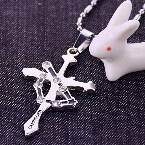 Generic _ steel _bottle_seat_striker_Cancer_Scorpio_ couple man boy women girl cross necklace Pendant by Generic
