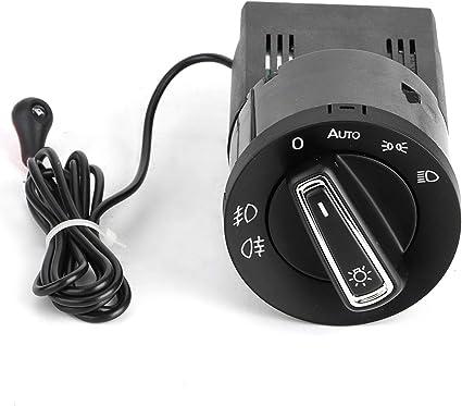 Interruptor de faro de coche ABS pl/ástico autom/ático Interruptor de faro autom/ático Sensor de luz Interruptor de faro apto para MK4