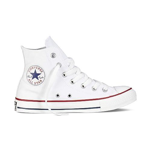 Converse Chuck Taylor All Star High Classic CTAS Hi Damen Herren Unisex Turnschuhe Canvas Sneaker Sportschuhe mit 7kmh Aufkleber