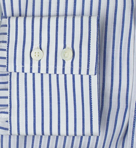 BRUNELLO CUCINELLI Blue Striped Button Down Slim Fit Shirt Size 50/40/M