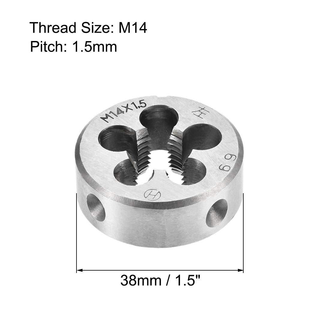 uxcell M18 X 1 Metric Round Die Alloy Tool Steel Machine Thread Left Hand Threading Die