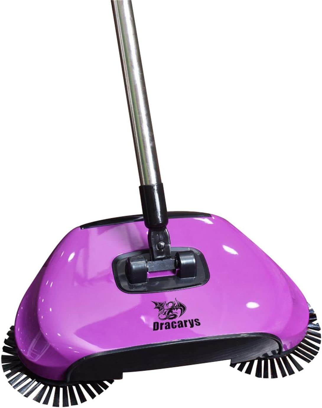 Dracarys Lazy 3 in 1 Household Cleaning Hand Push Automatic Sweeper Broom – Including Broom & Dustpan & Trash Bin – Cleaner Without Electricity Environmental (Purple)