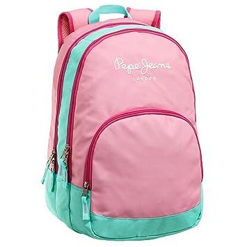 Pepe Jeans 6252451 Bicolor Mochila Escolar, 22.85 litros, Color Rosa: Amazon.es: Equipaje