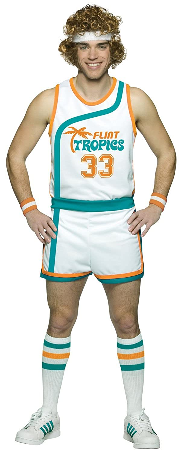 70s Costumes: Disco Costumes, Hippie Outfits Flint Tropics Semi Pro Jackie Moon Basketball Uniform Costume $59.99 AT vintagedancer.com