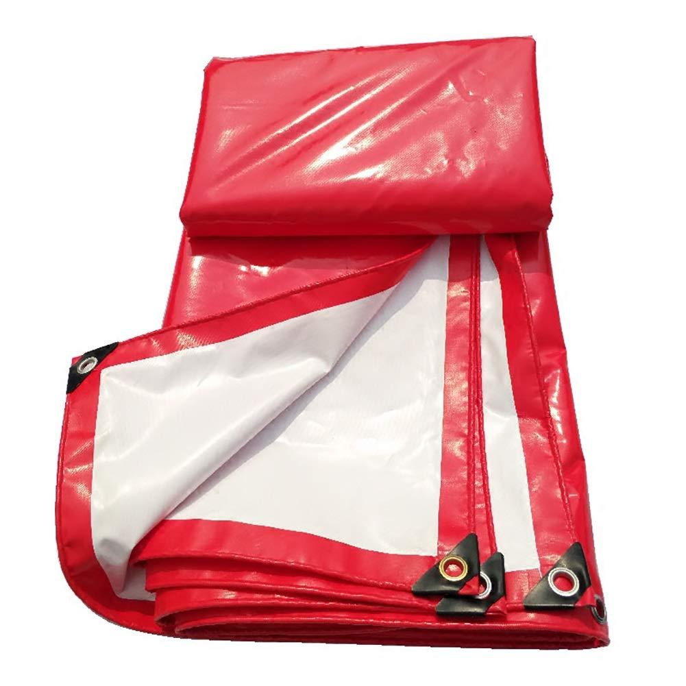 Plane Rot und Weiß PVC-Überdachungs-Spitzen-Tuch-wasserdichter Sonneschirm-haltbares Feier-Zelt Regen-Beweis Tuch-LKW Push-Pull