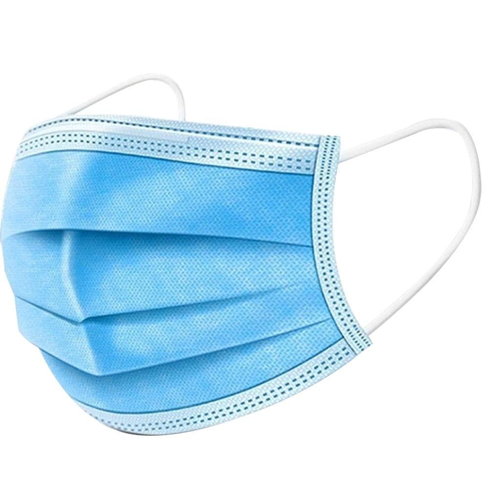 HJKH Mascarilla Protectora Mascarilla desechable Médico Máscaras Anti Polvo esterilizados Virus 3 de Capa 50pcs (Color Aleatorio) (Color : Azul, tamaño : Un tamaño)