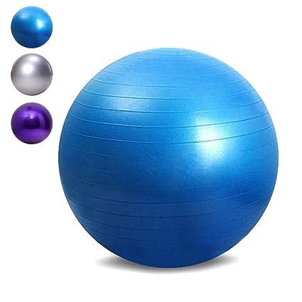 Outlife Pelota de Ejercicio Suiza de 65cm, Balón de Equilibrio de PVC Antideslizante, Bola de Gimnasia para Fitness/ Yoga/ Polates