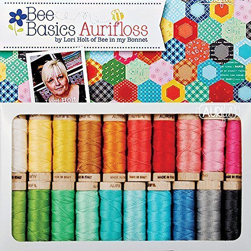 Lori Holt Bee Basic Aurifil Thread Kit 20 Small Spools Aurifloss LH30BB20 by Aurifil