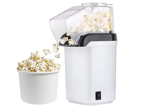 Palomitero 1200 W sin aceite Popcorn Maker Taza medidora # 5432