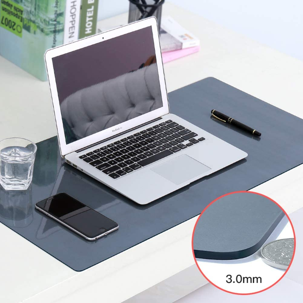 18x47inch Laptop keyboard Desk pad protector Computer tablecloth For gaming Writing Working-Coffee color 1.3mm 45x120cm PVC Matte Mouse pad Waterproof