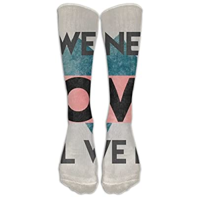 High Boots Crew WE NEED LOVE Compression Socks Comfortable Long Dress For Men Women