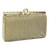 Big Sale, Evening Clutch Bags Bridal Purses Clutches Evening Handbag For Wedding Prom Bride Girls (Gold)