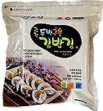 100 Sheets(7.0oz) Korean Roasted Seaweed Premium Yaki Sushi Nori Gimbap Roll, Vacuum Packed, Full Size