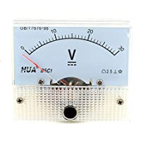 Uxcell a15042400ux0320 Rectangle Measuring Analog Panel Voltmeter Gauge 85C1 DC 0-30 Volt