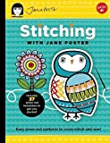 Stitching with Jane Foster: Easy press-out patterns to cross-stitch and sew (Kids Craft Kit Series)