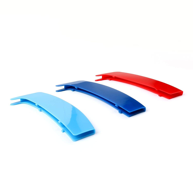 Areyourshop Juego de 3 clips para rejilla de ri/ñ/ón M Tech Tricolor para B-M-W E87 2004-2011