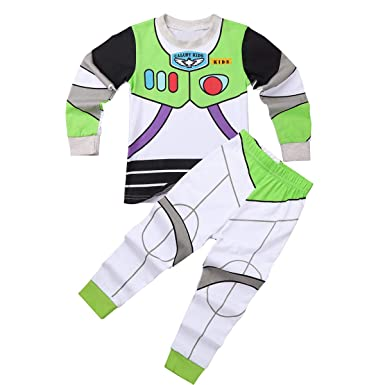 0bdf8849f dPois Kids Boys Girls' Cartoon Printed Two-Pieces Pajamas Outfit Cotton  Long Sleeves Tops