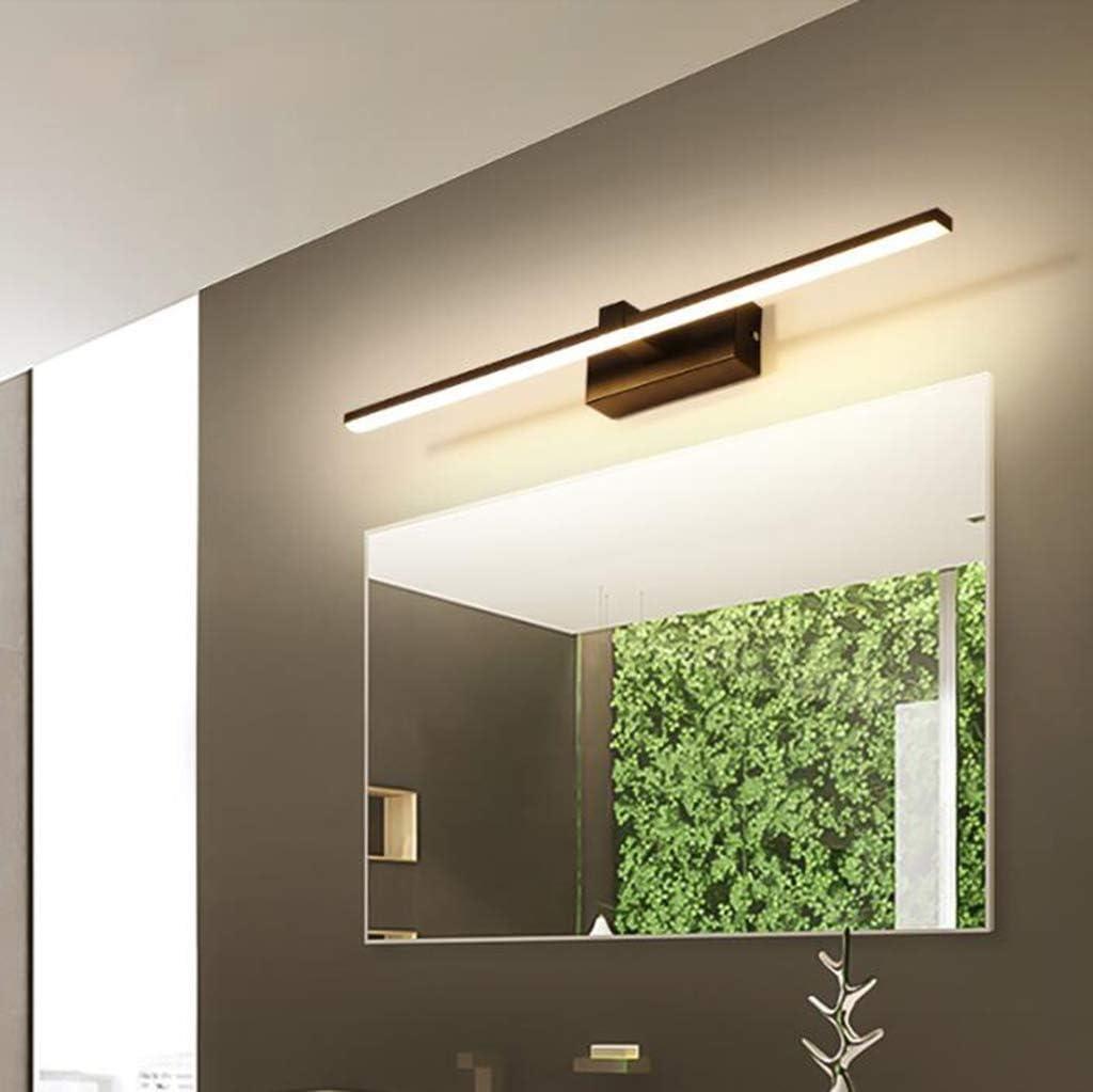 L.TSA Espejo Luz Frontal Simple Moderno LED Espejo Luz del gabinete Baño Lámpara de Pared Luz de baño Lámpara de Espejo de vanidad (Color: Luz cálida-40cm) White Light80cm