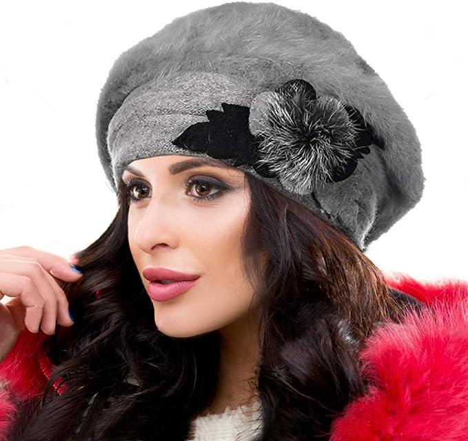 Ruphedy Barette HY022 - Gorro de Lana para Mujer, diseño francés ...