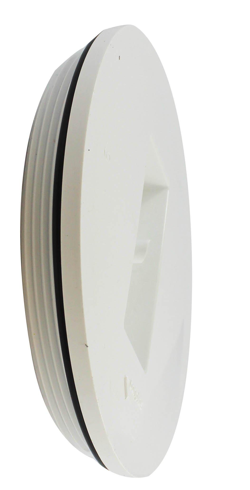 Canplas 193066 PVC DWV Countersink Plug, 6-Inch, White