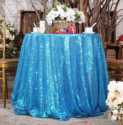 Eternal Beauty Sequin Tablecloth, Sequin Table Linen (48
